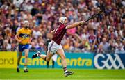 5 August 2018; Joe Canning of Galway controls the sliothar on his way to scoring a point in the second half of the GAA Hurling All-Ireland Senior Championship semi-final replay match between Galway and Clare at Semple Stadium in Thurles, Co Tipperary. Photo by Brendan Moran/Sportsfile