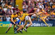 5 August 2018; Joseph Cooney of Galway is tackled by David Reidy of Clare during the GAA Hurling All-Ireland Senior Championship semi-final replay between Galway and Clare at Semple Stadium in Thurles, Co Tipperary. Photo by Ramsey Cardy/Sportsfile