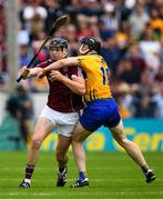 5 August 2018; Joseph Cooney of Galway is tackled by Tony Kelly of Clare during the GAA Hurling All-Ireland Senior Championship semi-final replay between Galway and Clare at Semple Stadium in Thurles, Co Tipperary. Photo by Ramsey Cardy/Sportsfile