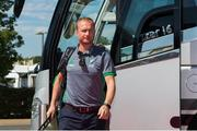 5 August 2018; Head Coach of Ireland Graham Shaw arrives before the Women's Hockey World Cup Final match between Ireland and Netherlands at the Lee Valley Hockey Centre in QE Olympic Park, London, England. Photo by Craig Mercer/Sportsfile