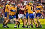 5 August 2018; Joe Canning of Galway and Colm Galvin of Clare during the GAA Hurling All-Ireland Senior Championship semi-final replay match between Galway and Clare at Semple Stadium in Thurles, Co Tipperary. Photo by Brendan Moran/Sportsfile