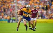 5 August 2018; Patrick O'Connor of Clare is tackled by Conor Cooney of Galway during the GAA Hurling All-Ireland Senior Championship semi-final replay match between Galway and Clare at Semple Stadium in Thurles, Co Tipperary. Photo by Brendan Moran/Sportsfile