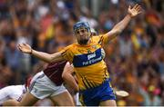5 August 2018; Shane O'Donnell of Clare celebrates after scoring his side's first goal during the GAA Hurling All-Ireland Senior Championship semi-final replay match between Galway and Clare at Semple Stadium in Thurles, Co Tipperary. Photo by Diarmuid Greene/Sportsfile