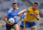 5 August 2018; Paddy Andrews of Dublin in action against Niall McInerney of Roscommon during the GAA Football All-Ireland Senior Championship Quarter-Final Group 2 Phase 3 match between Dublin and Roscommon at Croke Park in Dublin. Photo by Piaras Ó Mídheach/Sportsfile