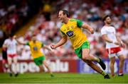 5 August 2018; Michael Murphy of Donegal celebrates after scoring his side's first goal during the GAA Football All-Ireland Senior Championship Quarter-Final Group 2 Phase 3 match between Tyrone and Donegal at MacCumhaill Park in Ballybofey, Co Donegal. Photo by Stephen McCarthy/Sportsfile