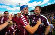 5 August 2018; Johnny Coen of Galway celebrates following the GAA Hurling All-Ireland Senior Championship semi-final replay between Galway and Clare at Semple Stadium in Thurles, Co Tipperary. Photo by Ramsey Cardy/Sportsfile
