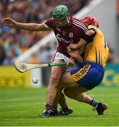 5 August 2018; Adrian Tuohy of Galway in action against John Conlon of Clare during the GAA Hurling All-Ireland Senior Championship semi-final replay match between Galway and Clare at Semple Stadium in Thurles, Co Tipperary. Photo by Diarmuid Greene/Sportsfile