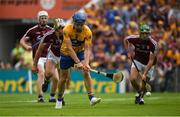 5 August 2018; Shane O'Donnell of Clare shoots to score his side's first goal despite the efforts of Daithí Burke of Galway during the GAA Hurling All-Ireland Senior Championship semi-final replay match between Galway and Clare at Semple Stadium in Thurles, Co Tipperary. Photo by Diarmuid Greene/Sportsfile