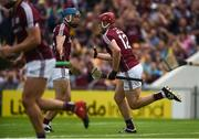 5 August 2018; Jonathan Glynn of Galway celebrates with team-mate Conor Cooney after scoring his side's first goal during the GAA Hurling All-Ireland Senior Championship semi-final replay match between Galway and Clare at Semple Stadium in Thurles, Co Tipperary. Photo by Diarmuid Greene/Sportsfile