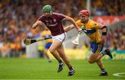 5 August 2018; Adrian Tuohy of Galway in action against John Conlon of Clare during the GAA Hurling All-Ireland Senior Championship semi-final replay match between Galway and Clare at Semple Stadium in Thurles, Co Tipperary. Photo by Ray McManus/Sportsfile