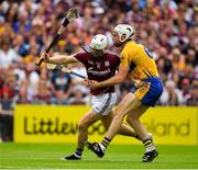 5 August 2018; Joe Canning of Galway is tackled by Conor Cleary of Clare during the GAA Hurling All-Ireland Senior Championship semi-final replay match between Galway and Clare at Semple Stadium in Thurles, Co Tipperary. Photo by Brendan Moran/Sportsfile