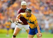 5 August 2018; Jack Browne of Clare is tackled by Joe Canning of Galway during the GAA Hurling All-Ireland Senior Championship semi-final replay match between Galway and Clare at Semple Stadium in Thurles, Co Tipperary. Photo by Brendan Moran/Sportsfile