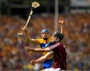 5 August 2018; Padraic Mannion of Galway in action against Shane O'Donnell of Clare during the GAA Hurling All-Ireland Senior Championship semi-final replay match between Galway and Clare at Semple Stadium in Thurles, Co Tipperary. Photo by Ray McManus/Sportsfile