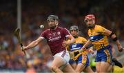 5 August 2018; Aidan Harte of Galway in action against John Conlon of Clare during the GAA Hurling All-Ireland Senior Championship semi-final replay match between Galway and Clare at Semple Stadium in Thurles, Co Tipperary. Photo by Ray McManus/Sportsfile