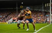 5 August 2018; Shane O'Donnell of Clare in action against Daithí Burke of Galway during the GAA Hurling All-Ireland Senior Championship semi-final replay match between Galway and Clare at Semple Stadium in Thurles, Co Tipperary. Photo by Diarmuid Greene/Sportsfile
