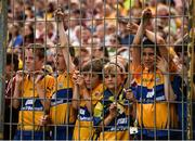 5 August 2018; A group of young Clare supporters look on during the GAA Hurling All-Ireland Senior Championship semi-final replay match between Galway and Clare at Semple Stadium in Thurles, Co Tipperary. Photo by Diarmuid Greene/Sportsfile