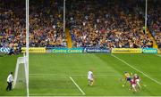 5 August 2018; Shane O'Donnell of Clare shoots to score his side's first goal of the game during the GAA Hurling All-Ireland Senior Championship semi-final replay between Galway and Clare at Semple Stadium in Thurles, Co Tipperary. Photo by Ramsey Cardy/Sportsfile