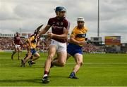 5 August 2018; Conor Cooney of Galway in action against Patrick O'Connor of Clare during the GAA Hurling All-Ireland Senior Championship semi-final replay match between Galway and Clare at Semple Stadium in Thurles, Co Tipperary. Photo by Diarmuid Greene/Sportsfile