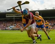 5 August 2018; Conor Cooney of Galway in action against Conor Cleary of Clare during the GAA Hurling All-Ireland Senior Championship semi-final replay match between Galway and Clare at Semple Stadium in Thurles, Co Tipperary. Photo by Diarmuid Greene/Sportsfile