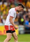 5 August 2018; Mattie Donnelly of Tyrone celebrates at the final whistle of the GAA Football All-Ireland Senior Championship Quarter-Final Group 2 Phase 3 match between Tyrone and Donegal at MacCumhaill Park in Ballybofey, Co Donegal. Photo by Oliver McVeigh/Sportsfile