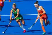 5 August 2018; Chloe Watkins of Ireland in action during the Women's Hockey World Cup Final match between Ireland and Netherlands at the Lee Valley Hockey Centre in QE Olympic Park, London, England. Photo by Craig Mercer/Sportsfile