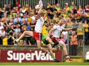 5 August 2018; Colm Cavanagh, left, and Frank Burns of Tyrone in action against Ryan McHugh of Donegal during the GAA Football All-Ireland Senior Championship Quarter-Final Group 2 Phase 3 match between Tyrone and Donegal at MacCumhaill Park in Ballybofey, Co Donegal. Photo by Oliver McVeigh/Sportsfile