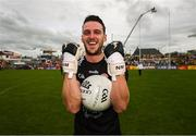 5 August 2018; Niall Morgan of Tyrone celebrates following the GAA Football All-Ireland Senior Championship Quarter-Final Group 2 Phase 3 match between Tyrone and Donegal at MacCumhaill Park in Ballybofey, Co Donegal. Photo by Stephen McCarthy/Sportsfile