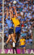 5 August 2018; Enda Smith of Roscommon in action against Mark Schutte of Dublin during the GAA Football All-Ireland Senior Championship Quarter-Final Group 2 Phase 3 match between Dublin and Roscommon at Croke Park in Dublin. Photo by Daire Brennan/Sportsfile