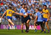 5 August 2018; Mark Schutte of Dublin in action against Gary Patterson of Roscommon during the GAA Football All-Ireland Senior Championship Quarter-Final Group 2 Phase 3 match between Dublin and Roscommon at Croke Park in Dublin. Photo by Daire Brennan/Sportsfile