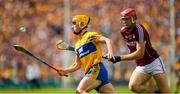 5 August 2018; Conor Cleary of Clare in action against Jonathan Glynn of Galway during the GAA Hurling All-Ireland Senior Championship semi-final replay match between Galway and Clare at Semple Stadium in Thurles, Co Tipperary. Photo by Ray McManus/Sportsfile