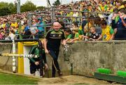 5 August 2018; Donegal manager Declan Bonner prior to the GAA Football All-Ireland Senior Championship Quarter-Final Group 2 Phase 3 match between Tyrone and Donegal at MacCumhaill Park in Ballybofey, Co Donegal. Photo by Philip Fitzpatrick/Sportsfile