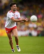 5 August 2018; Tiernan McCann of Tyrone during the GAA Football All-Ireland Senior Championship Quarter-Final Group 2 Phase 3 match between Tyrone and Donegal at MacCumhaill Park in Ballybofey, Co Donegal. Photo by Stephen McCarthy/Sportsfile