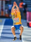 6 August 2018; Vladyslav Mazur of Ukraine competing in the Mens Long Jump Qualfication Round during Day Q of the 2018 European Athletics Championships at Berlin in Germany.  Photo by Sam Barnes/Sportsfile