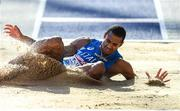 6 August 2018; Kevin Ojiaku of Italy competing in the Mens Long Jump Qualfication Round during Day Q of the 2018 European Athletics Championships at Berlin in Germany.  Photo by Sam Barnes/Sportsfile