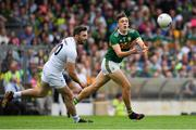 4 August 2018; David Clifford of Kerry in action against Fergal Conway of Kildare during the GAA Football All-Ireland Senior Championship Quarter-Final Group 1 Phase 3 match between Kerry and Kildare at Fitzgerald Stadium in Killarney, Kerry. Photo by Brendan Moran/Sportsfile