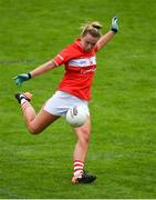 6 August 2018; Saoirse Noonan of Cork shoots to score a goal during the TG4 All-Ireland Ladies Football Senior Championship quarter-final match between Cork and Westmeath at the Gaelic Grounds in Limerick. Photo by Diarmuid Greene/Sportsfile