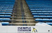 5 August 2018; A general view of seats in Semple Stadium prior to the GAA Hurling All-Ireland Senior Championship semi-final replay match between Galway and Clare at Semple Stadium in Thurles, Co Tipperary. Photo by Brendan Moran/Sportsfile