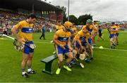 5 August 2018; The Clare team assemble for their team photo prior to the GAA Hurling All-Ireland Senior Championship semi-final replay match between Galway and Clare at Semple Stadium in Thurles, Co Tipperary. Photo by Brendan Moran/Sportsfile