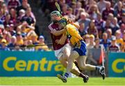 5 August 2018; Cathal Mannion of Galway in action against Seadna Morey of Clare during the GAA Hurling All-Ireland Senior Championship semi-final replay match between Galway and Clare at Semple Stadium in Thurles, Co Tipperary. Photo by Brendan Moran/Sportsfile