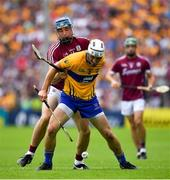 5 August 2018; Patrick O'Connor of Clare in action against Conor Cooney of Galway during the GAA Hurling All-Ireland Senior Championship semi-final replay match between Galway and Clare at Semple Stadium in Thurles, Co Tipperary. Photo by Brendan Moran/Sportsfile