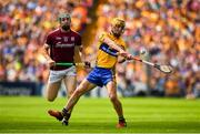 5 August 2018; Colm Galvin of Clare in action against Cathal Mannion of Galway during the GAA Hurling All-Ireland Senior Championship semi-final replay match between Galway and Clare at Semple Stadium in Thurles, Co Tipperary. Photo by Brendan Moran/Sportsfile