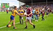 5 August 2018; Cathal Mannion of Galway shakes hands with Colm Galvin of Clare after the GAA Hurling All-Ireland Senior Championship semi-final replay match between Galway and Clare at Semple Stadium in Thurles, Co Tipperary. Photo by Brendan Moran/Sportsfile