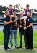 7 August 2018; The Beacon Hospital All-Ireland Hurling Sevens, organised by Kilmacud Crokes GAA Club and kindly sponsored this year, for the first time, by Beacon Hospital was officially launched in Croke Park. Pictured at the launch are hurlers, from left, Ryan O'Dwyer, Bill O'Carroll, Fergal Whitely and Niall Corcoran, with Under 10 Kilmacud Crokes hurlers Michael Lyng, left, and Cian Manning. Photo by Ramsey Cardy/Sportsfile