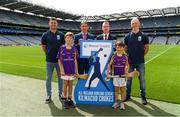 7 August 2018; The Beacon Hospital All-Ireland Hurling Sevens, organised by Kilmacud Crokes GAA Club and kindly sponsored this year, for the first time, by Beacon Hospital was officially launched in Croke Park. Pictured at the launch are hurlers, Bill O'Carroll, left, and Fergal Whitely, right, with Mark Lohan, Chairman, Hurling 7s Committee Chairman, Brian Fitzgerald, Deputy CEO, Beacon Hospital, and Under 10 Kilmacud Crokes hurlers Michael Lyng, left, and Cian Manning. Photo by Ramsey Cardy/Sportsfile