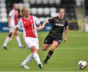 7 August 2018; Kelly Zeeman of Ajax in action against Edel Kennedy of Wexford Youths during the UEFA Women's Champions League Qualifier match between Ajax and Wexford Youths at Seaview in Belfast, Antrim. Photo by Oliver McVeigh/Sportsfile