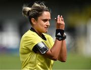 7 August 2018; Italian referee Maria Marotta during the UEFA Women's Champions League Qualifier match between Ajax and Wexford Youths at Seaview in Belfast, Antrim. Photo by Oliver McVeigh/Sportsfile