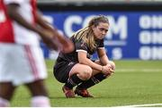 7 August 2018; A dejected Emma Hansberry of Wexford Youths after the UEFA Women's Champions League Qualifier match between Ajax and Wexford Youths at Seaview in Belfast, Antrim. Photo by Oliver McVeigh/Sportsfile