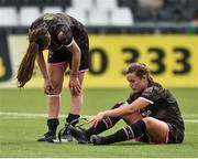 7 August 2018; A dejected Lauren Dwyer and Orlaith Conlon of Wexford Youths after the UEFA Women's Champions League Qualifier match between Ajax and Wexford Youths at Seaview in Belfast, Antrim. Photo by Oliver McVeigh/Sportsfile