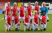 7 August 2018; The Ajax team before the UEFA Women's Champions League Qualifier match between Ajax and Wexford Youths at Seaview in Belfast, Antrim. Photo by Oliver McVeigh/Sportsfile