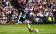 4 August 2018; Rory Beggan of Monaghan during the GAA Football All-Ireland Senior Championship Quarter-Final Group 1 Phase 3 match between Galway and Monaghan at Pearse Stadium in Galway. Photo by Ramsey Cardy/Sportsfile